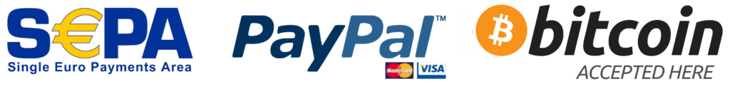 Translation payment methods SEPA-PayPal-Bitcoin-Visa-Mastercard